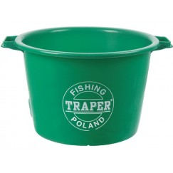Ведро для прикормки Traper 40л (зеленый, красный)